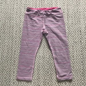 Ivivva cropped legging - pastel stripes size 8